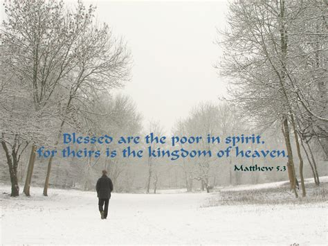 matthew 5 3 poster blessed are the poor in spirit for