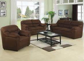 Brown Fabric Sofa Sets Brown Fabric Modern 3pc Sofa Set W Pillow Padded Arms