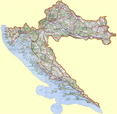 croatia map croatia maps printable maps of croatia for download