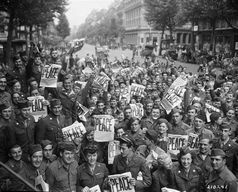 a world war ii victory americans everywhere celebrated the end of world