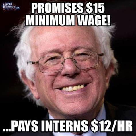 Bernie Memes - exposed the hypocrisy of bernie sanders on minimum wage