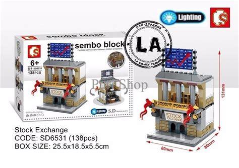 Mainan Brick Lego Sembo Block Set Isi 4 jual harga promo mini city series sd65286531 lighting