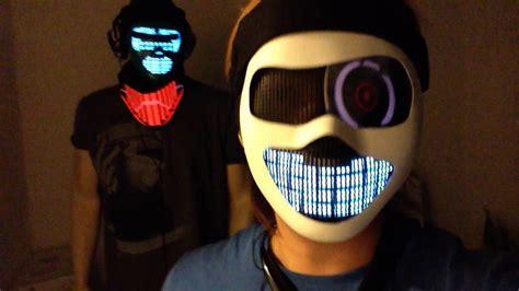 light up face mask futuristic cyborg masks future robot light up helmet