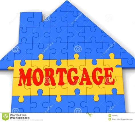 house mortgage meaning mortgage house shows home purchase loan royalty free stock photography image 28057327