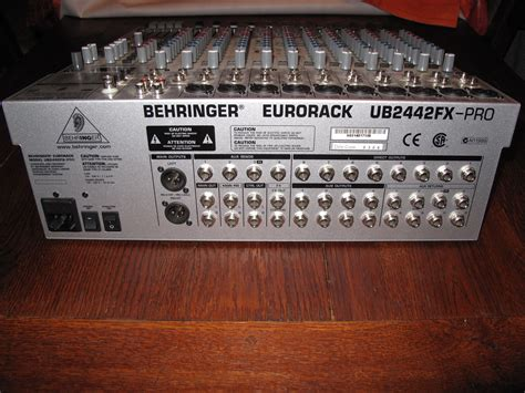 Mixer Behringer Eurorack Ub2442fx Pro behringer eurorack ub2442fx pro image 707320 audiofanzine