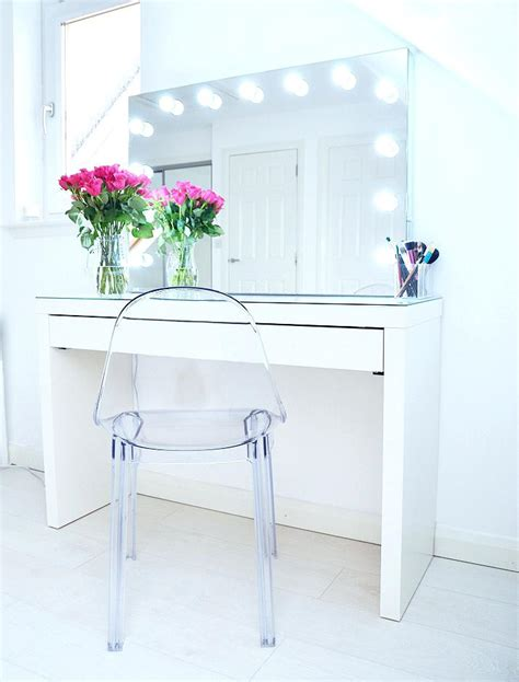 ikea vanity table with mirror and bench makeup storage ideas ikea malm vanity with mirror dressing