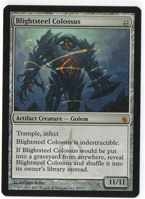 magic card blightsteel colossus magic the gathering sold