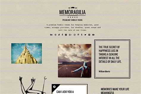tumblr themes quirky memorabilia tumblr theme themelantic