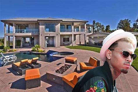 here s a look around chris brown s disastrous house