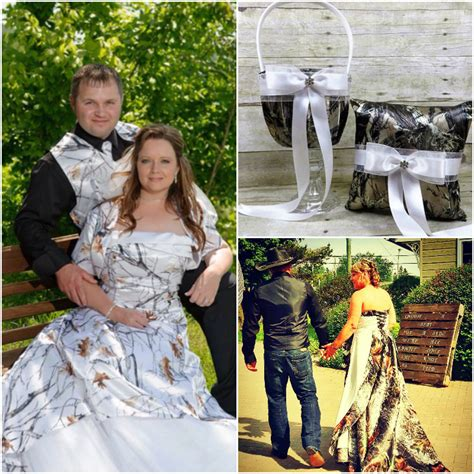 trendy camo bridesmaid dresses for a unique wedding