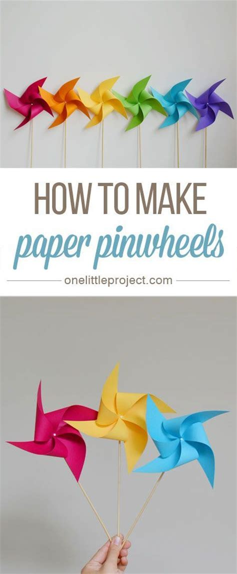 How To Make Paper Pinwheel Decorations - 25 unique pinwheel craft ideas on paper