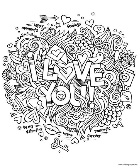 printable coloring pages i love you adult heart amour i love you romantique coloring pages