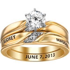walmart womens wedding rings gold sterling silver womens wedding ring set