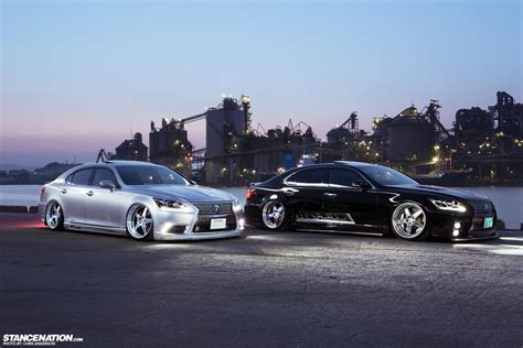 slammed lexus ls460 stance nations two amazing twin slammed vip ls460s club