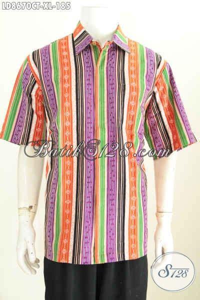 Baju Batik Pria Cap Tulis Size Xl Ct3586ld baju batik pria bagus hem batik keren motif unik bergaris kwalitas istimewa proses cap tulis