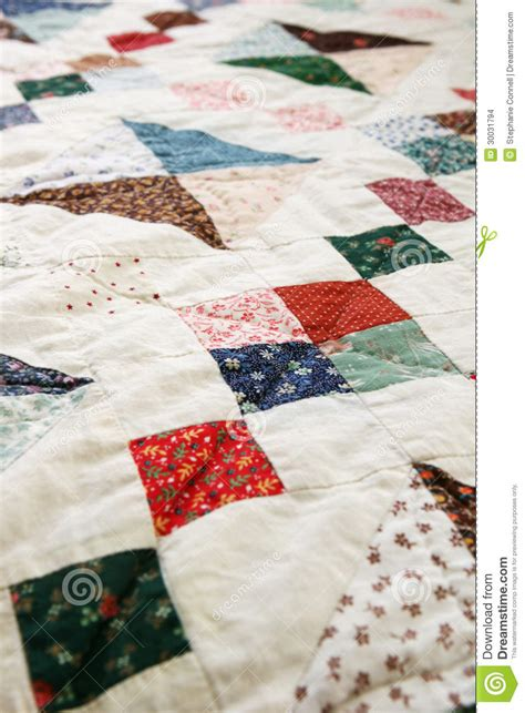 Sewn Patchwork - patchwork quilt stock images image 30031794