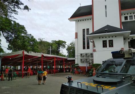 Air 2 Di Medan dijaga polisi saat ibadah jemaat hkbp merasa aman