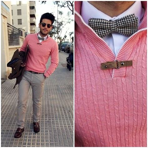 the pink and grey look nice with the paint color eden s pink sweater bow tie perfect on the right guy men s