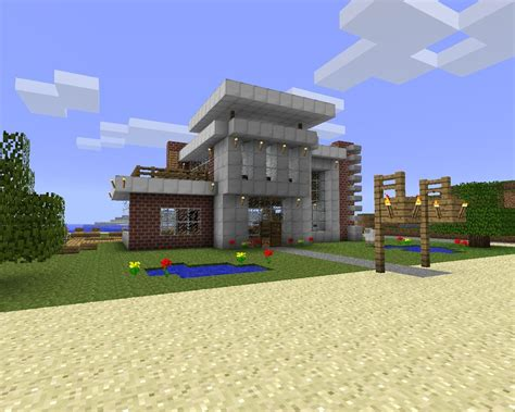 minecraft house design modern beach house design download minecraft project