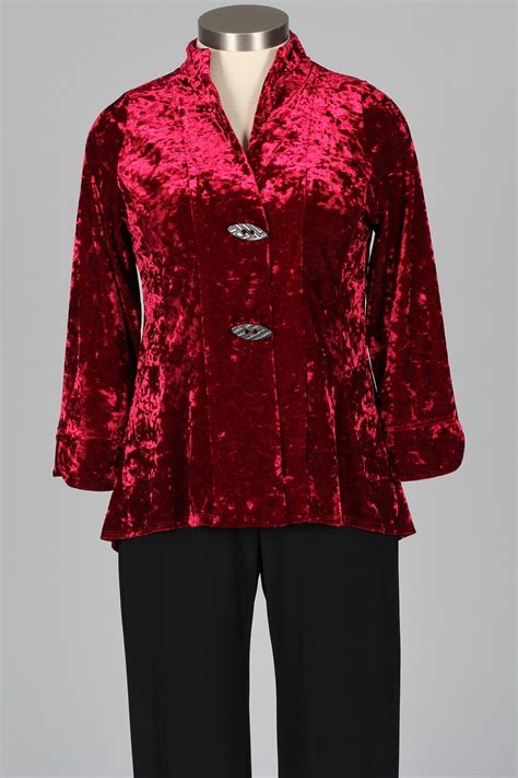 Crushed Velvet Jacket crushed velvet jacket burgundy by i c collection at