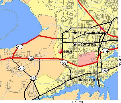 zip code map pensacola fl 32506 zip code myrtle grove florida profile homes