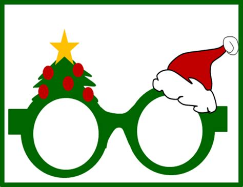 printable elf glasses an awesome christmas tie and an impressive elf hat