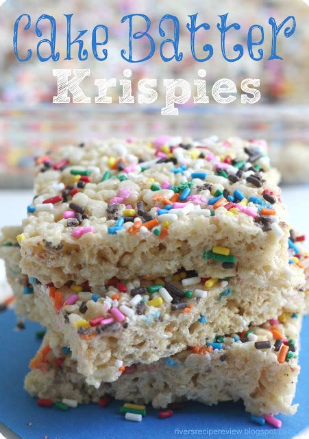 cake batter rice krispies treats the recipe critic