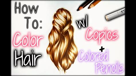how to hair color drawing tutorial how to color hair w copics colored
