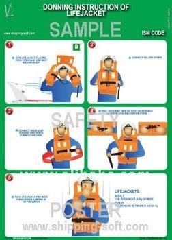 reddingsvest instructie donning instruction of lifejacket buy shipboard safety