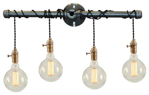 industrial bathroom light fixtures binger 4 light vanity fixture industrial bathroom