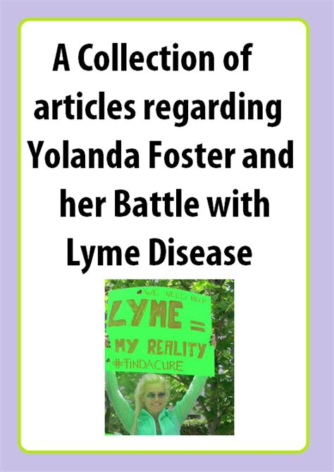 Where Did Yolanda Get Lyme Disease | when did yolanda get lyme disease yolanda foster timeline