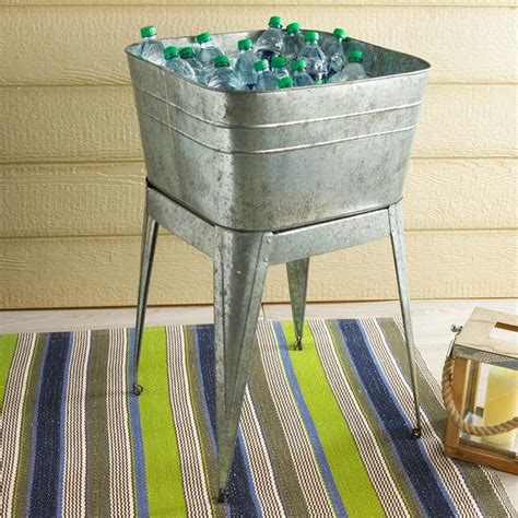galvanized laundry sink with stand galvanized metal wash tub with stand l shades by