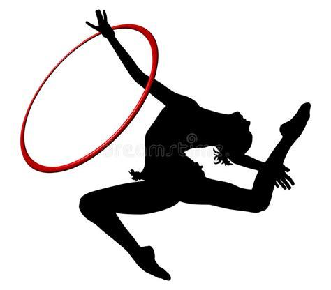 clipart ginnastica ginnastica ritmica icona vectorial colorata anello