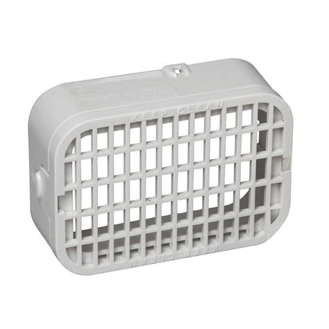 amerimax home products 3 in x 4 in plastic white rodent