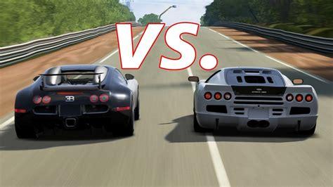 bugatti vs ultimate aero forza 4 ssc ultimate aero vs bugatti veyron and veyron