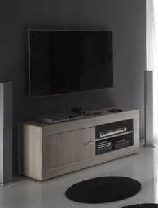 meuble tv chne clair contemporain yudy