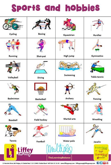 imagenes de hobbies en ingles sports hobbies aprende ingl 233 s pinterest