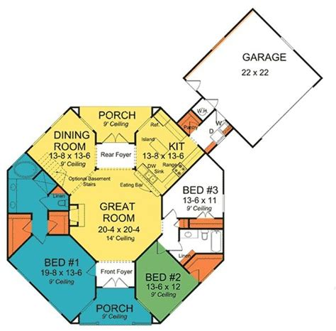 vacation house plans octagon octagon house plans plan w42262db octagonal cottage