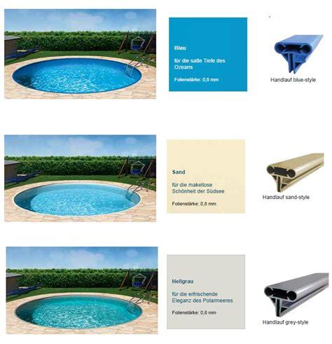 Folie Bodenplatte Kaufen by Poolfolie Sand Oder Blau Schwimmbad Und Saunen