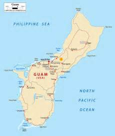 where is on the map detailed clear large map of guam and ezilon maps