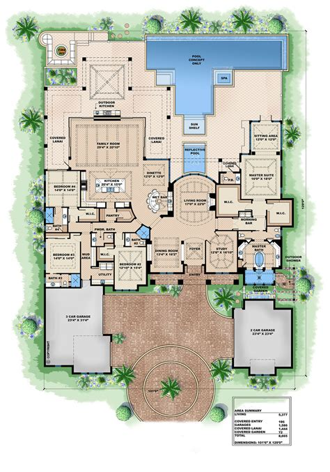 European Style Floor Plans by European Style House Plan 4 Beds 4 75 Baths 8665 Sq Ft