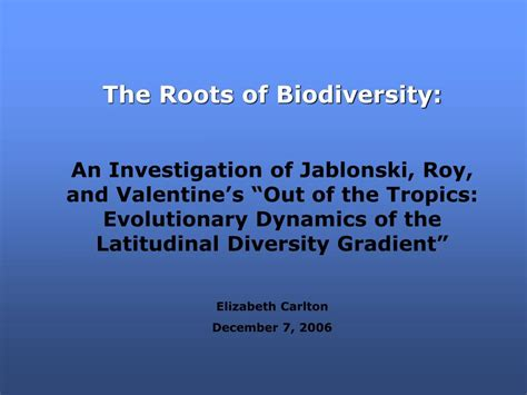american tropics the caribbean roots of biodiversity science flows migrations and exchanges books ppt the roots of biodiversity powerpoint presentation