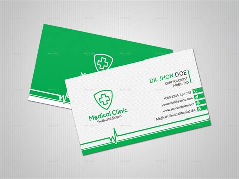 business card template doctor doctor business card by dider design graphicriver