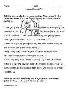 The haunted house a printable edit and story starter for halloween