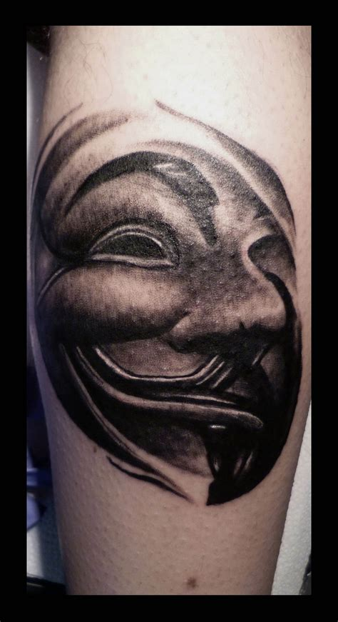 guy fawkes tattoo v for vendetta mask tattoos net fawkes geekdom