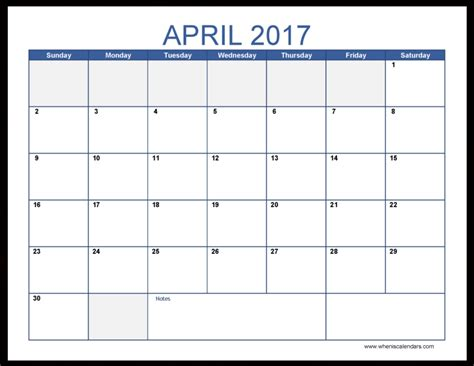 Calendar April Free April 2017 Calendar Printable With Holidays