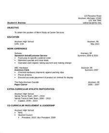 sle resume high school graduate