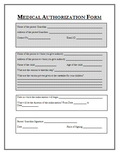 medication consent form template sle authorization form templates printable