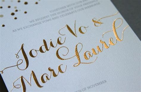 Black Wedding Invitations With Gold Lettering