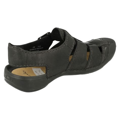 mens closed toe leather dress sandals mens clarks closed toe leather sandals edge ebay